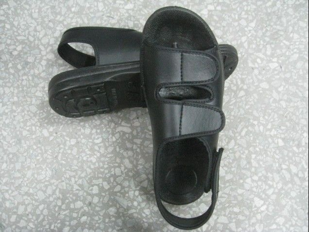 Comfortable Breathable Anti Static Sandals , ESD Safety Footwear With Magic Tape