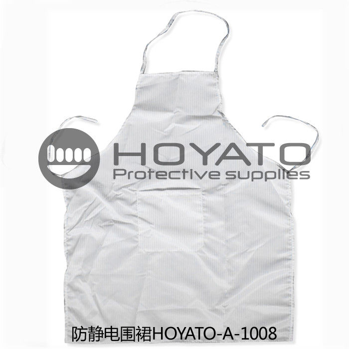 ESD Safe Aprons , Clean Room Clothing For Electronic Industry